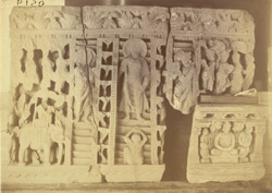 Buddhist sculpture excavated at Lorian Tangai, Peshawar District: the Buddha's return from Trayastrimsha heaven